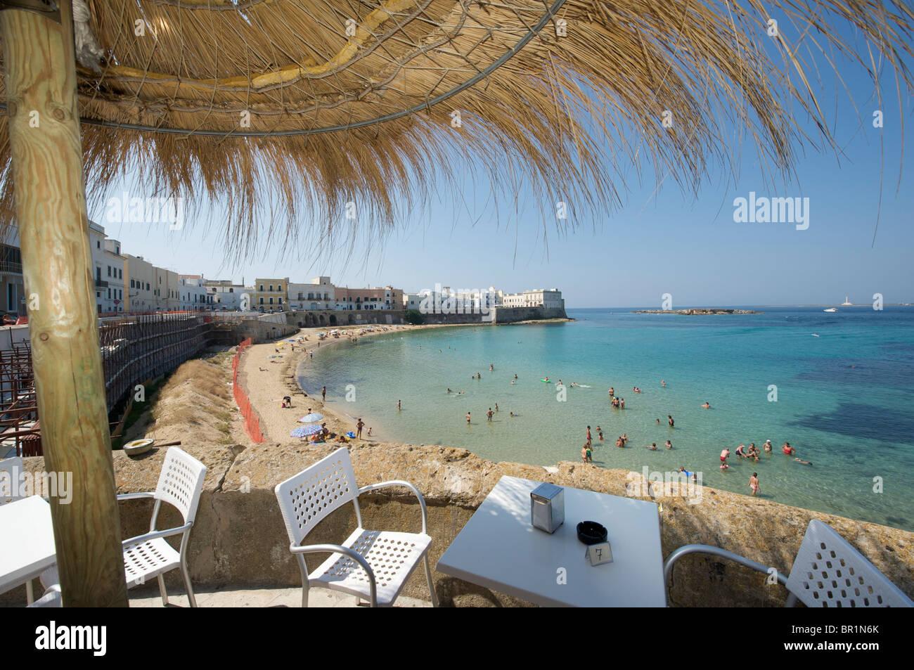 Gallipoli, della Purità 'seno' en la playa Imagen De Stock