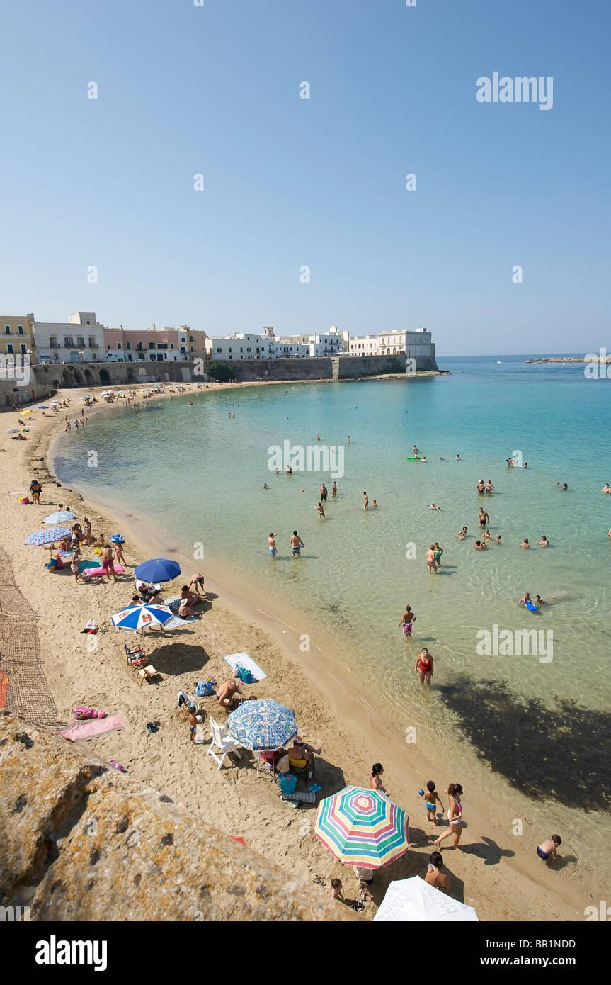 Gallipoli,'seno della Purità' en la playa Imagen De Stock
