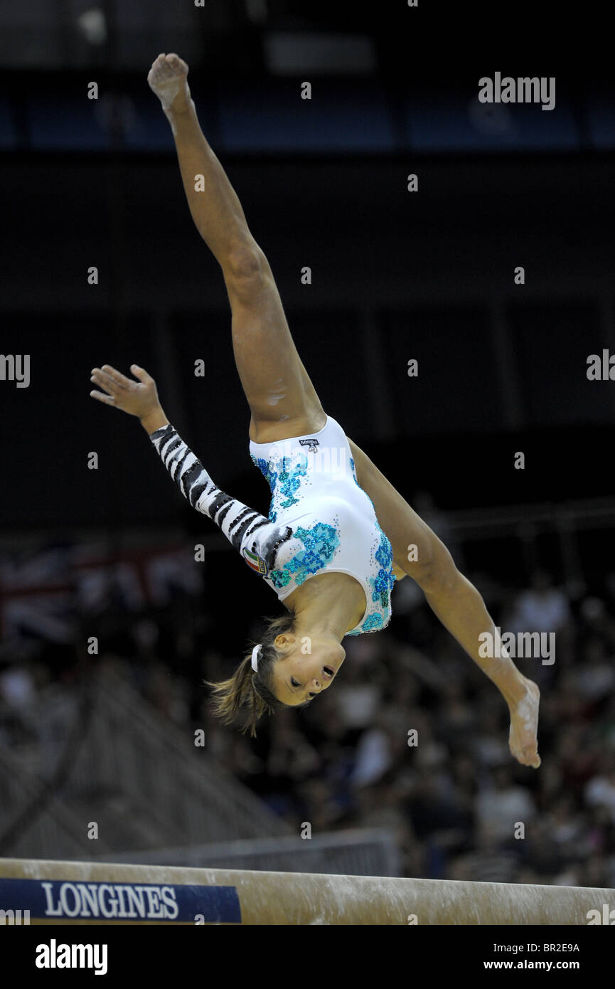 16.10.2009.El Campeonato Mundial de gimnasia en el O2 Arena London.Womens Competición final, Foto Alan Edwards© Imagen De Stock