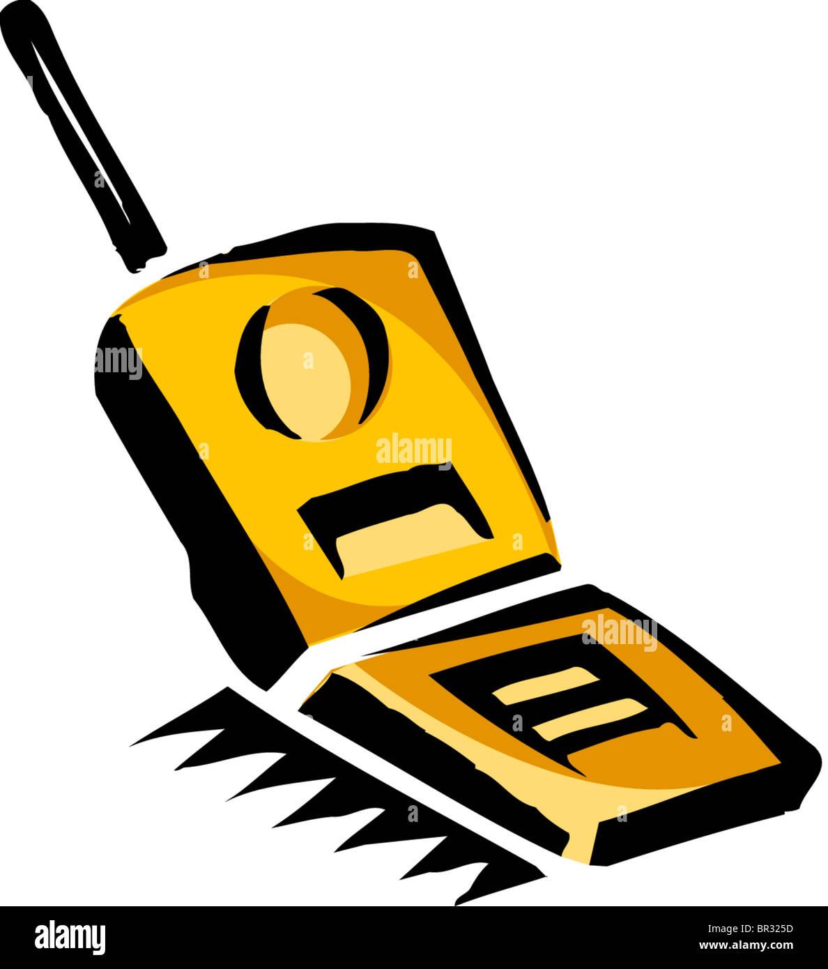 Un Dibujo De Un Teléfono Con Tapa Foto Imagen De Stock 31415033