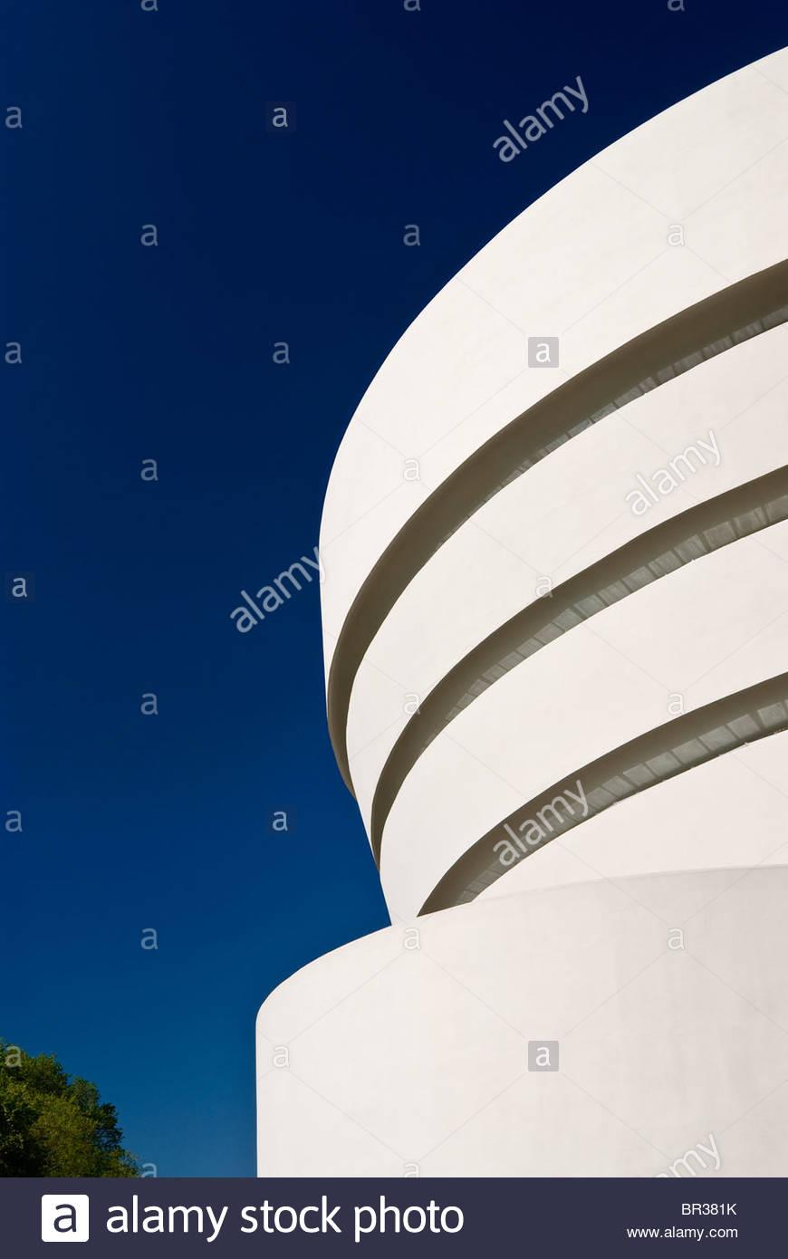 El Museo Guggenheim, la ciudad de Nueva York. Frank Lloyd Wright, arquitecto.Foto de stock