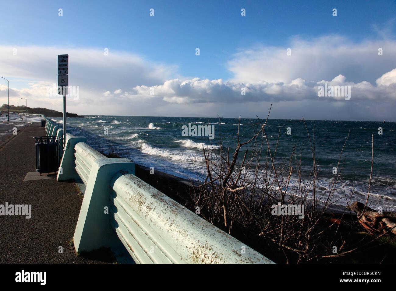 mar agitado Foto de stock