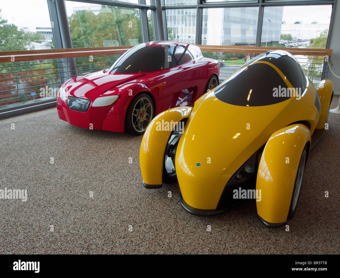 Prototipos de vehículos en exhibición en el Museo de Volvo en Arendal en Gotemburgo, Suecia Imagen De Stock