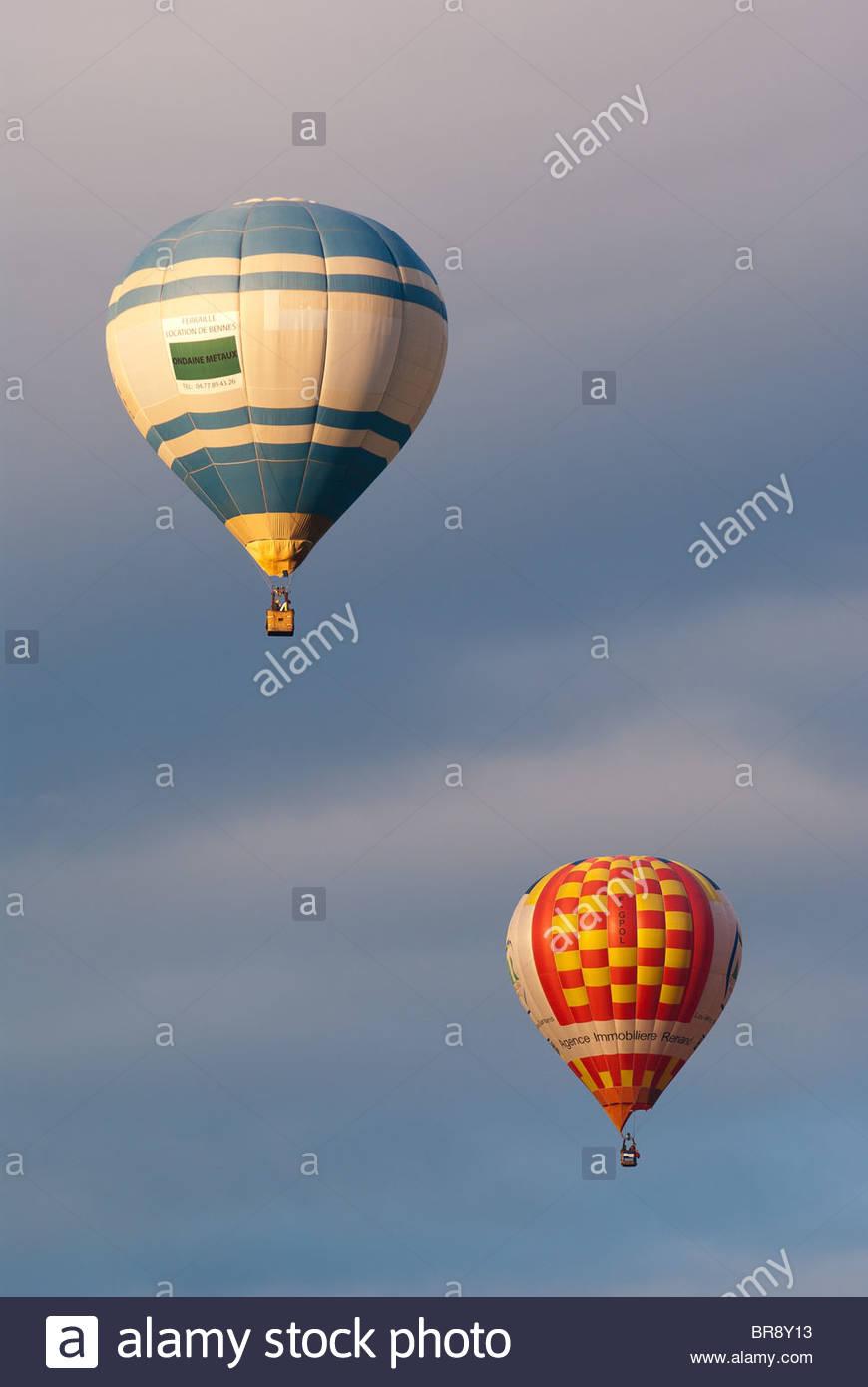 Los globos de aire caliente Imagen De Stock