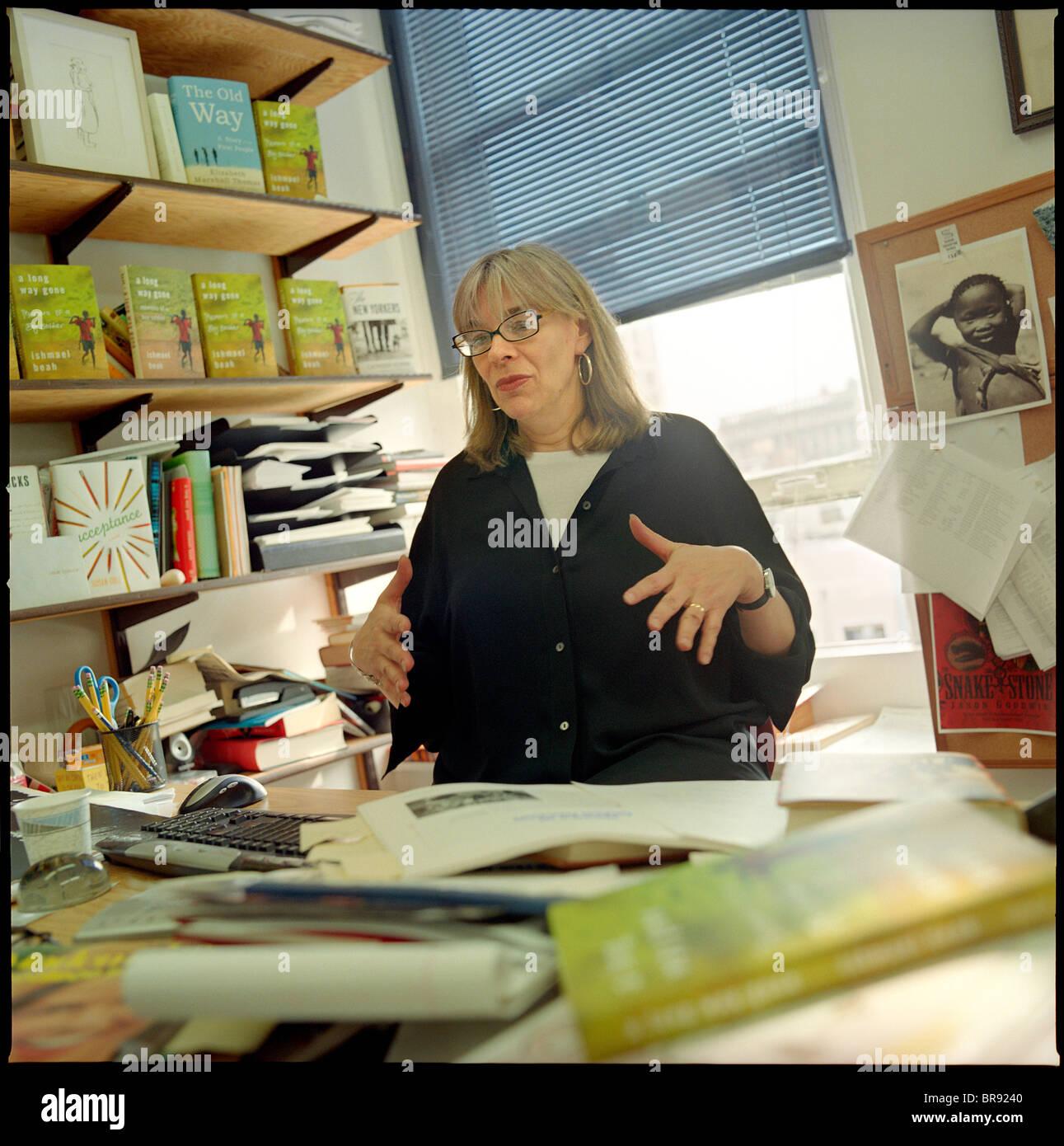 Editor y director Sarah Crichton Foto de stock