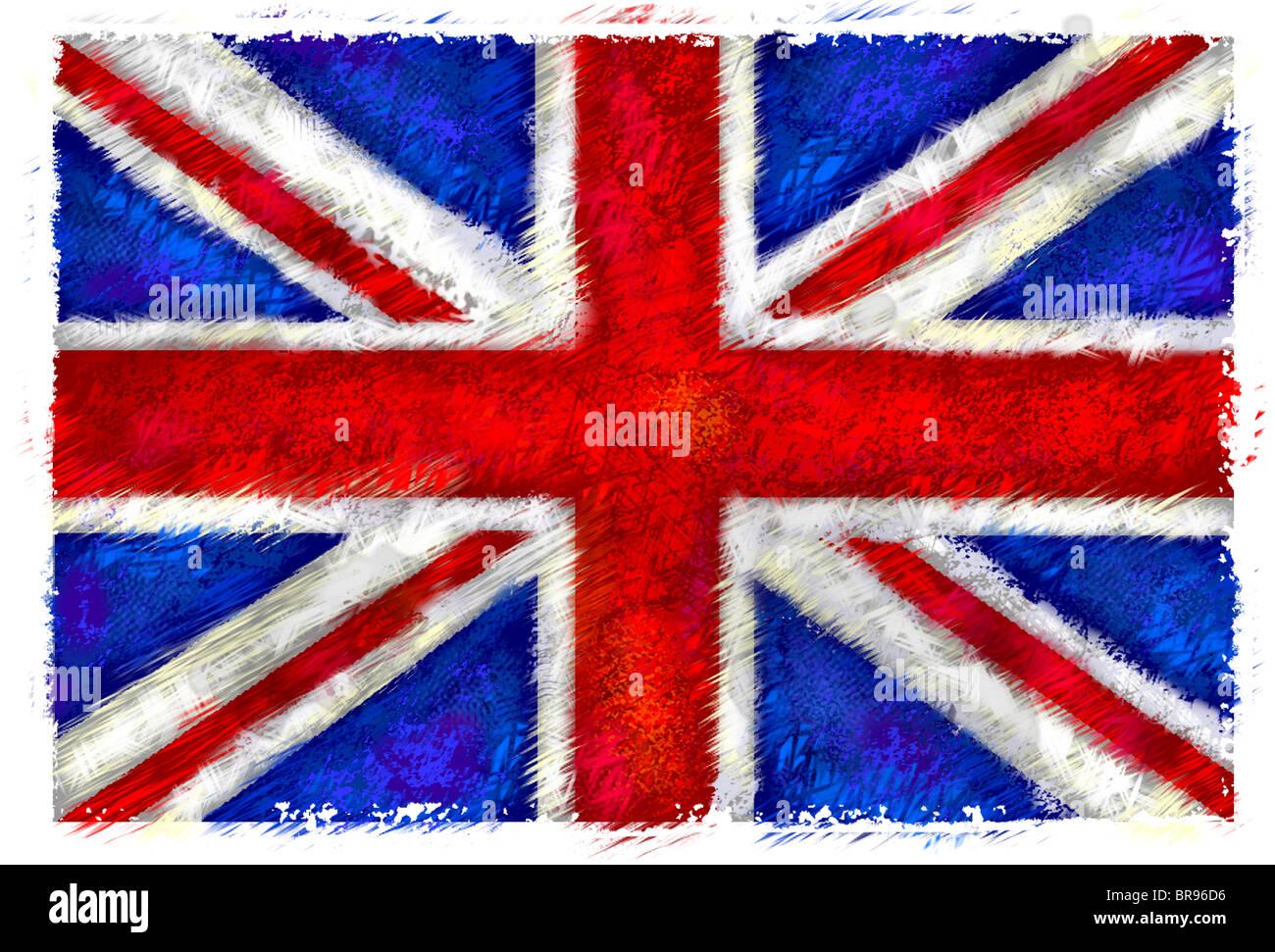 Dibujo De La Bandera Del Reino Unido Foto Imagen De Stock