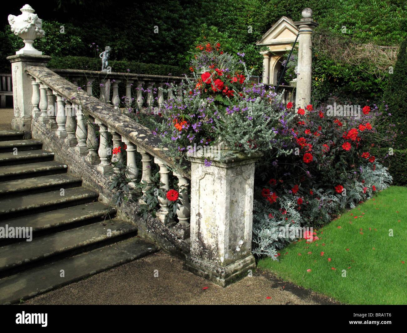 Balaustrada florido Imagen De Stock