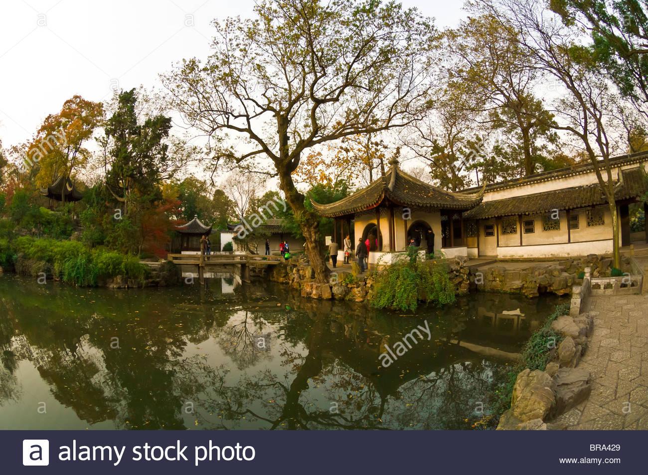 Jardín del Administrador Humilde, Suzhou, China Imagen De Stock