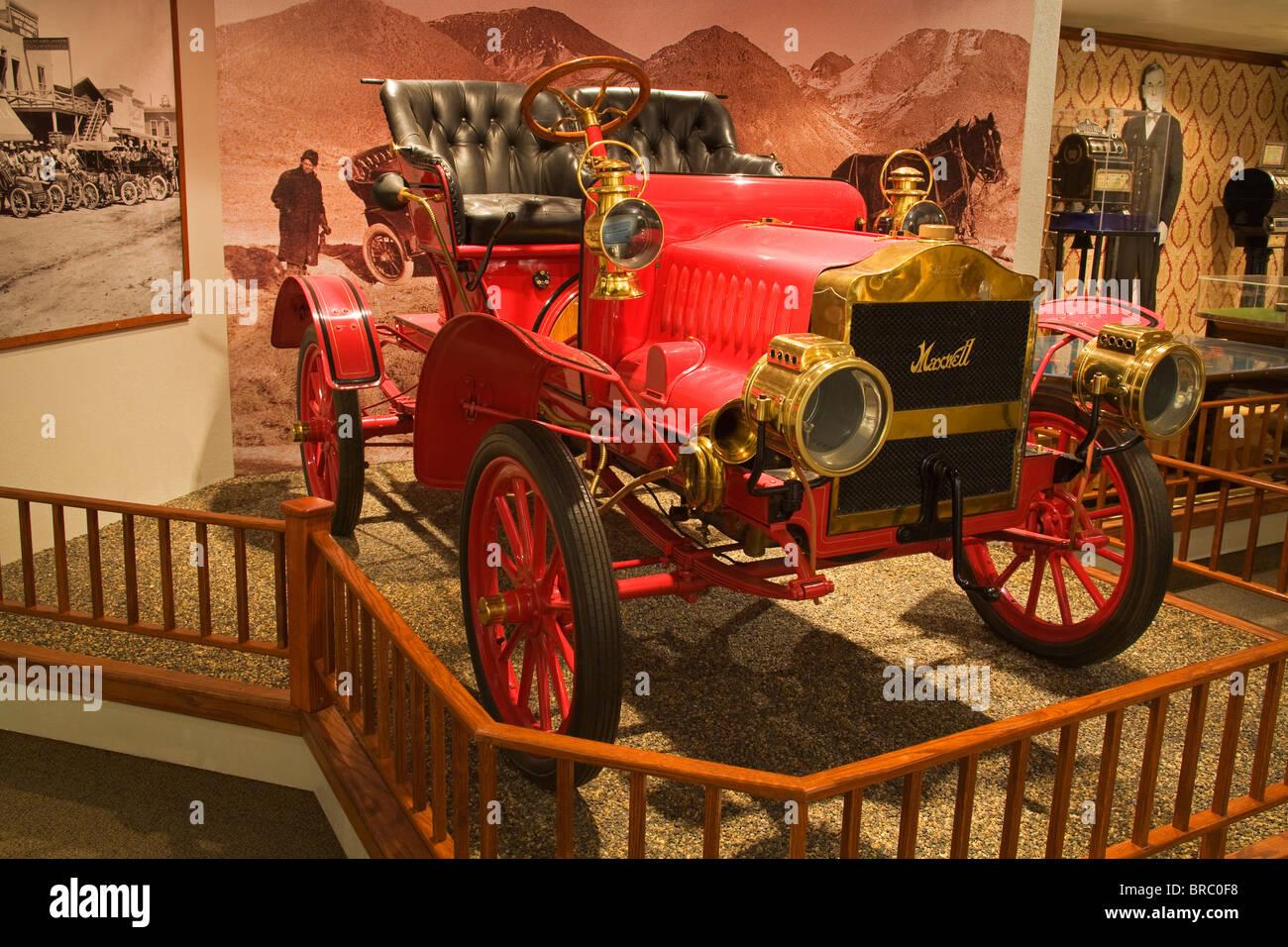Automóvil en el Museo del Estado de Nevada, Carson City, Nevada, EE.UU. Imagen De Stock