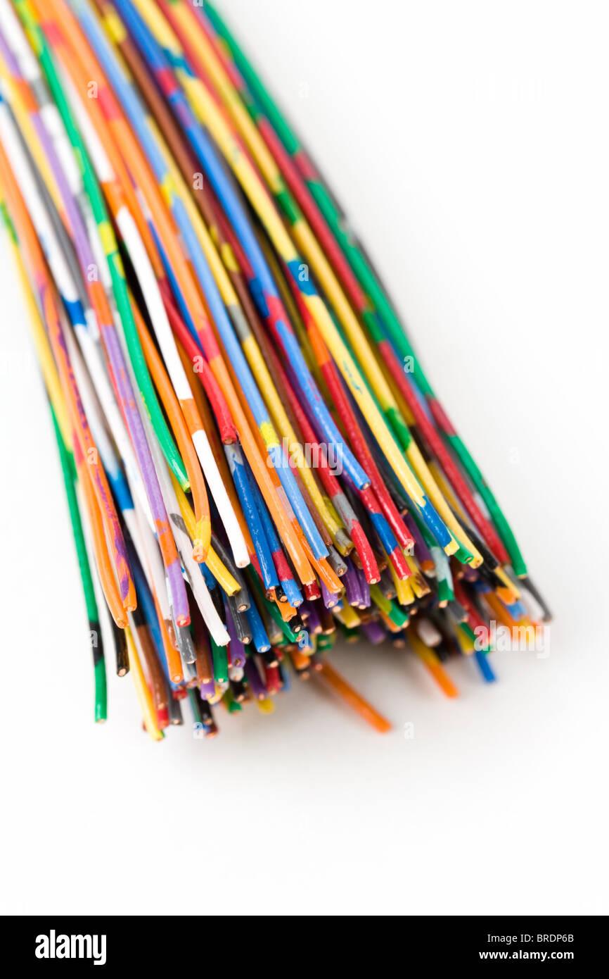 Cable de colorido, el concepto de comunicación, línea de datos Imagen De Stock