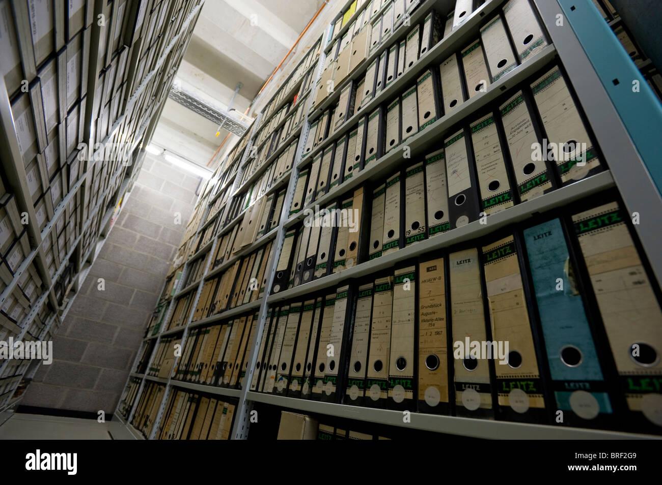 Archivo de la Deutsches Technikmuseum, el Museo Alemán de Tecnología, Berlín, Alemania, Europa Imagen De Stock
