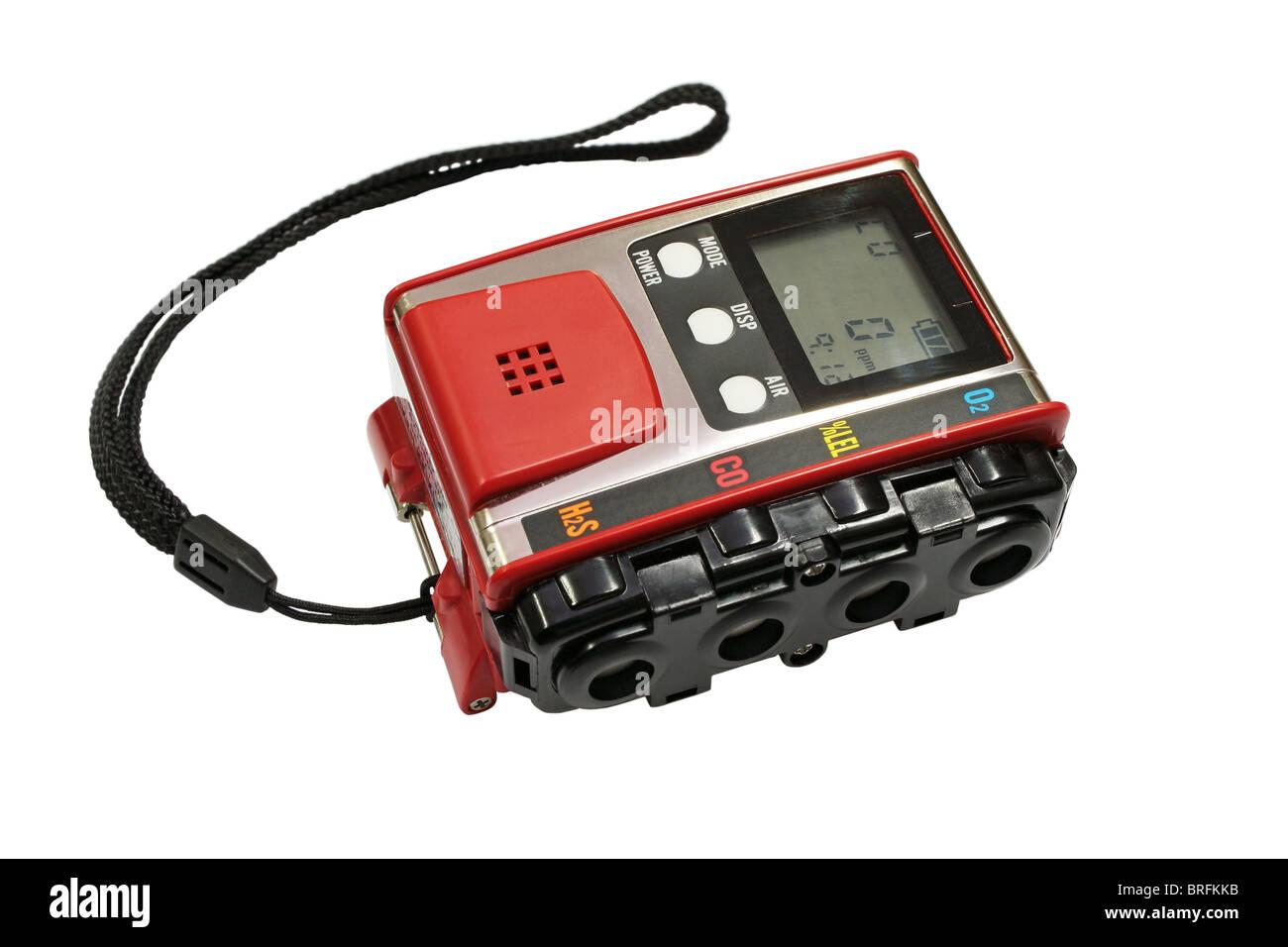 Analizador de gases. Analizador de gases, un dispositivo para medir la concentración de gases explosivos. Imagen De Stock