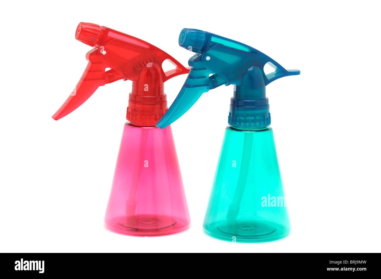 Botellas vacías de spray Imagen De Stock