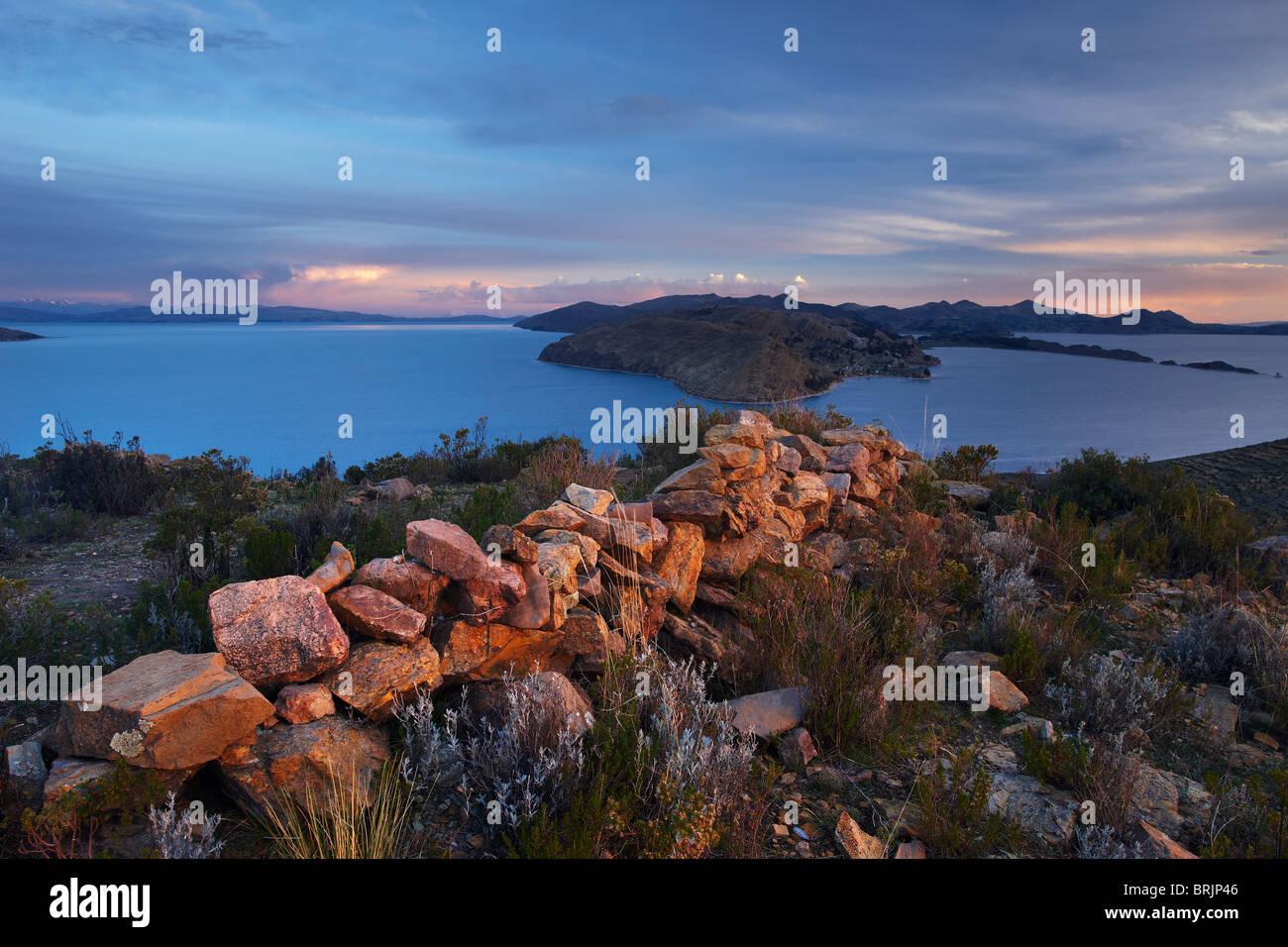 Isla del Sol, Lago Titicaca, Bolivia Imagen De Stock