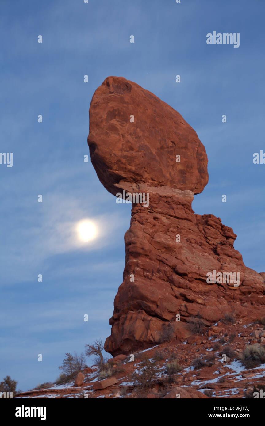 Rocas Rojas en el Parque Nacional de Arches, en Utah. Imagen De Stock
