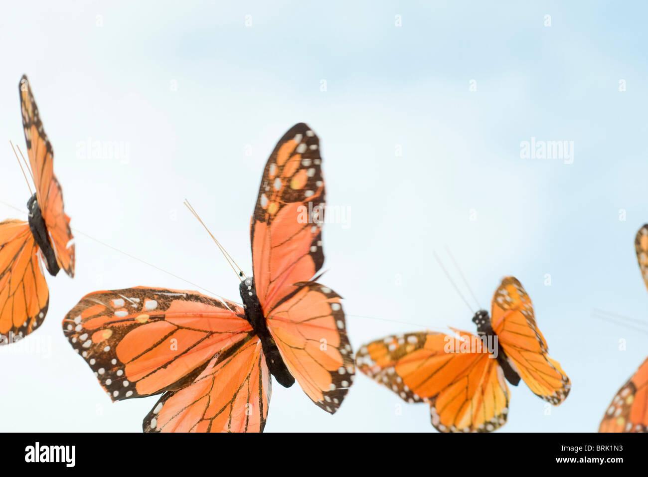 Las mariposas artificial Foto de stock