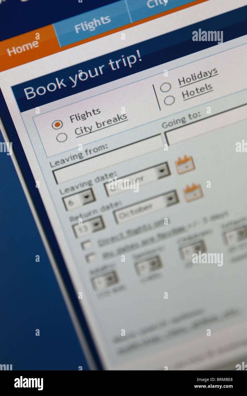 Reserva online viajes viaje Imagen De Stock