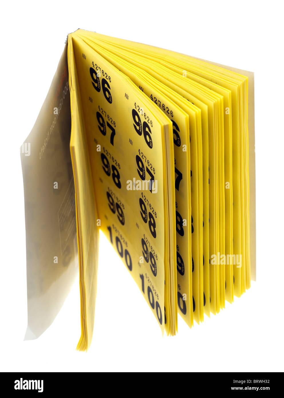 Folleto de tickets de guardarropa Foto de stock