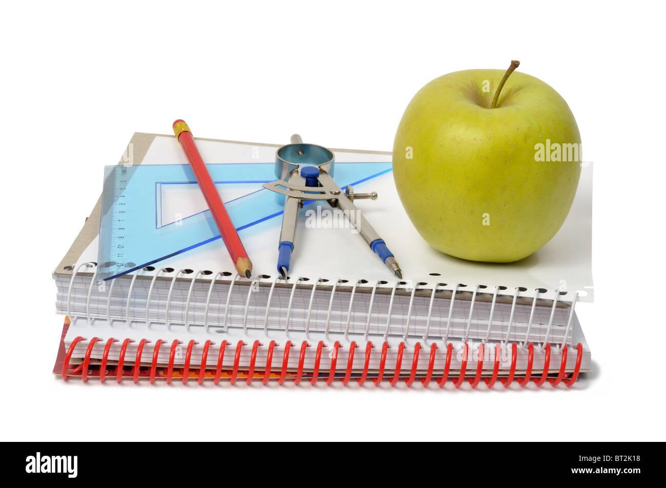 Accesorios escolares Imagen De Stock