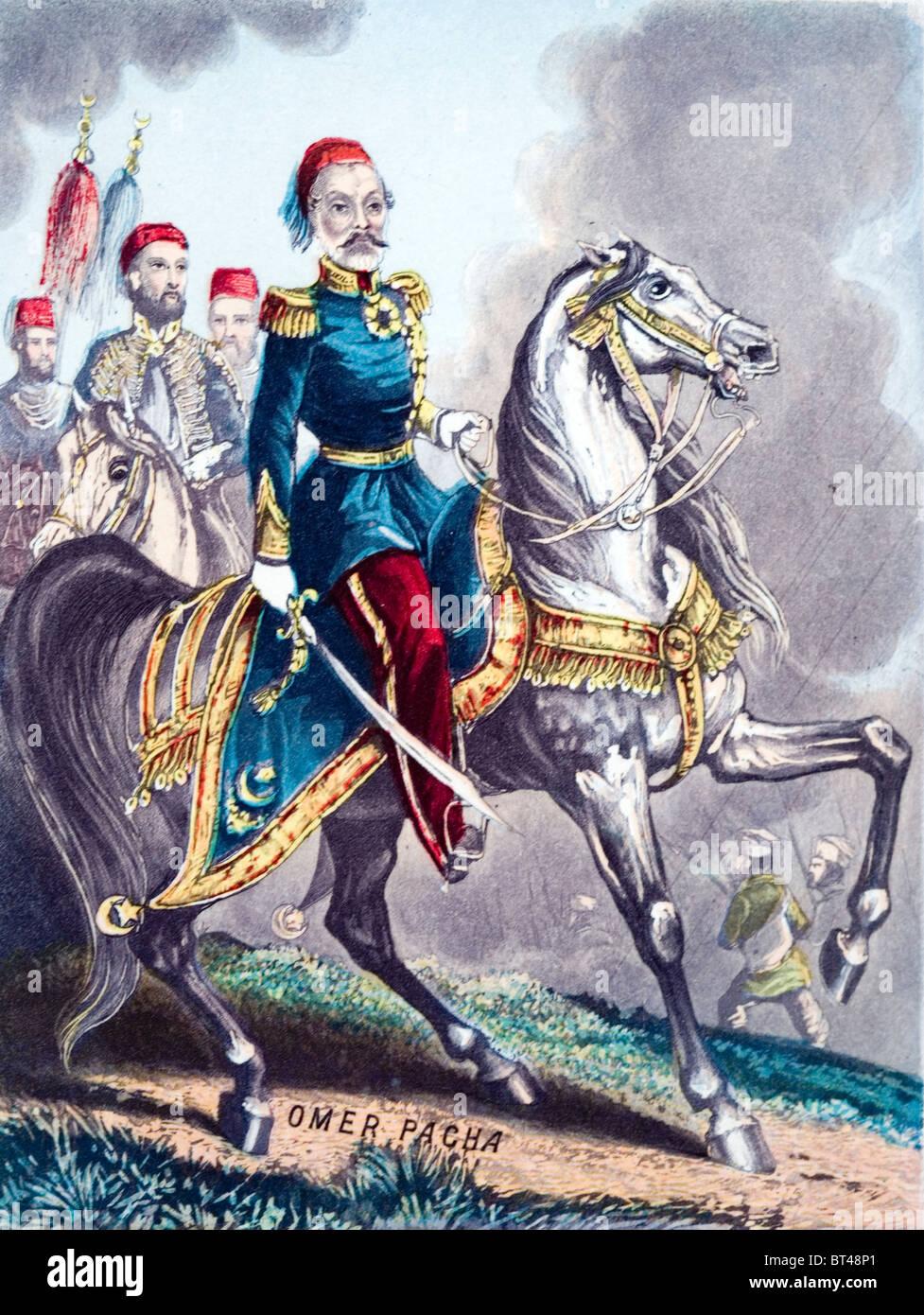 Omar Pasha Latas . General otomano. Foto de stock