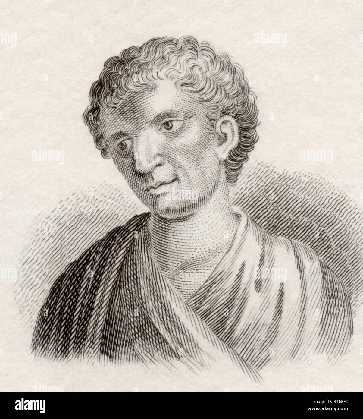 Demóstenes, de 384 a 322 antes de Cristo. Estadista y orador griego de la antigua Atenas. Imagen De Stock