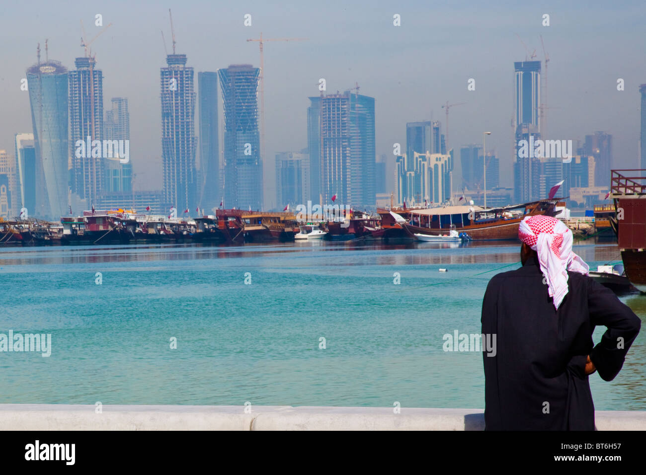 Horizonte de rascacielos en Doha (Qatar) Imagen De Stock