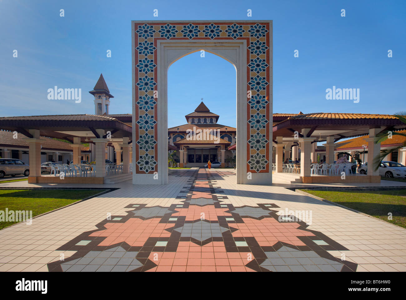 La Universiti Brunei Darussalam Mezquita, Gadong, Brunei Foto de stock