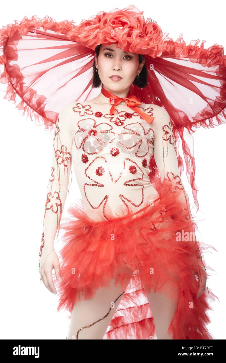 Bailarina de cabaret Imagen De Stock