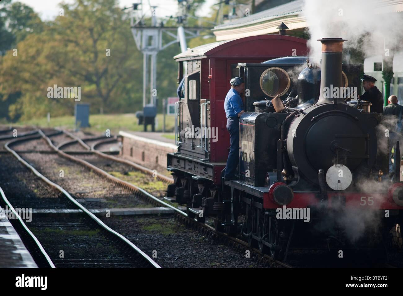 A1X clase locomotora 55 Stepney, Bluebell Railway, Sussex, Inglaterra Foto de stock