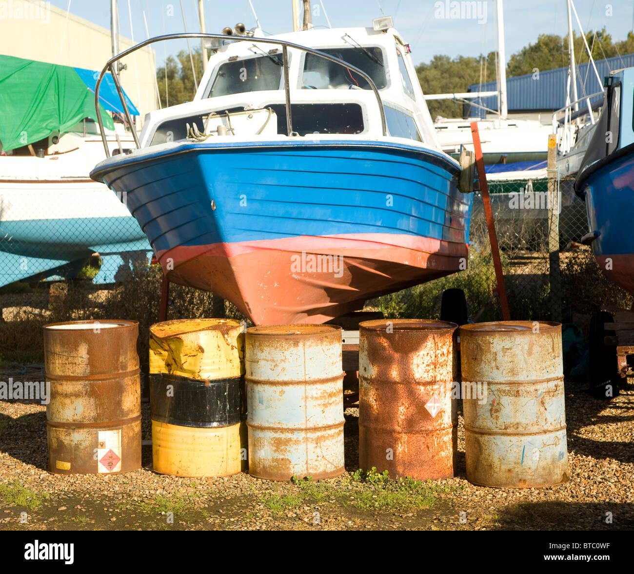 Astillero Burnham sobre Crouch, Essex, Inglaterra Imagen De Stock