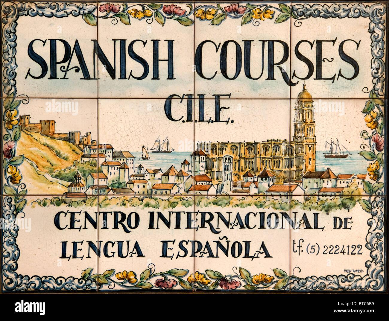 Málaga España Andalucía cursos de idioma español Imagen De Stock
