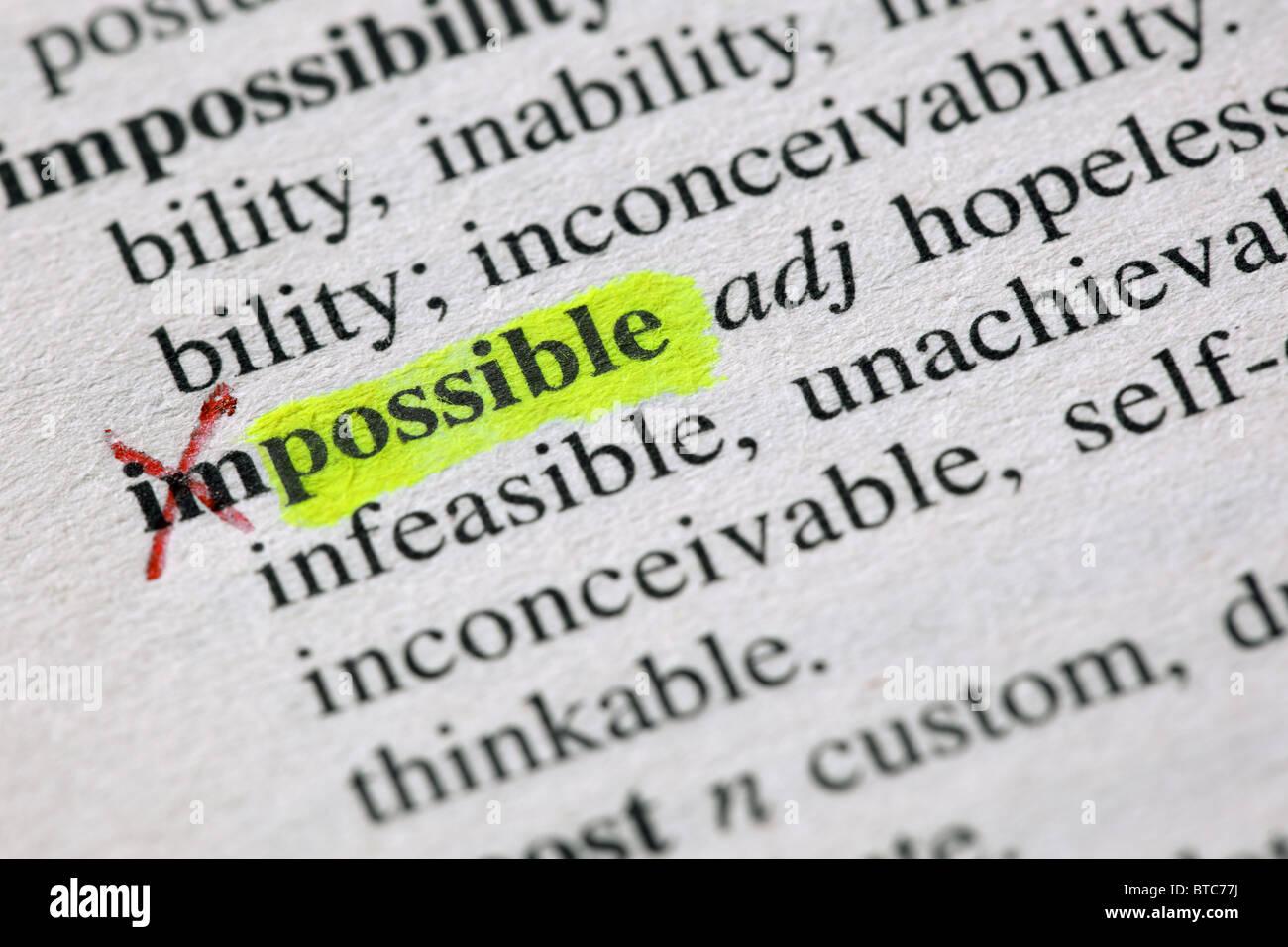 Desde la imposible la posible Imagen De Stock