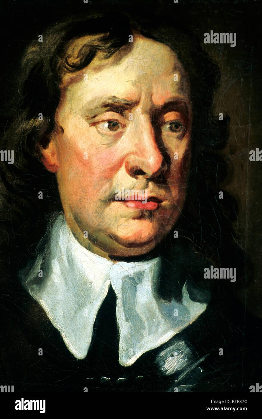 Oliver Cromwell, pintura, Boscobel House, Shropshire, Inglaterra Lord Protector guerra civil inglesa retrato retratos pinturas Foto de stock