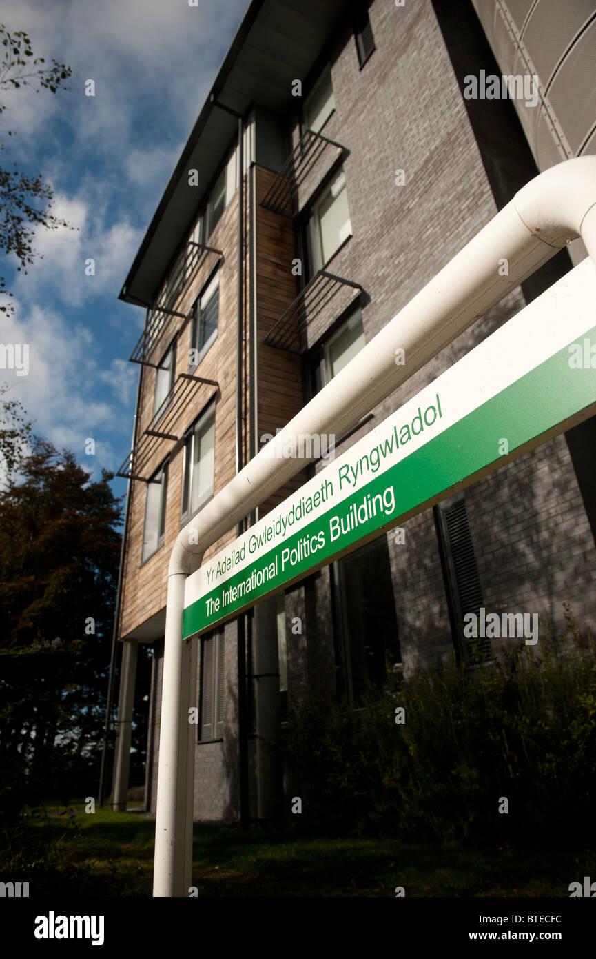 El Departamento de Política Internacional en la Universidad de Gales, Aberystwyth, REINO UNIDO Imagen De Stock
