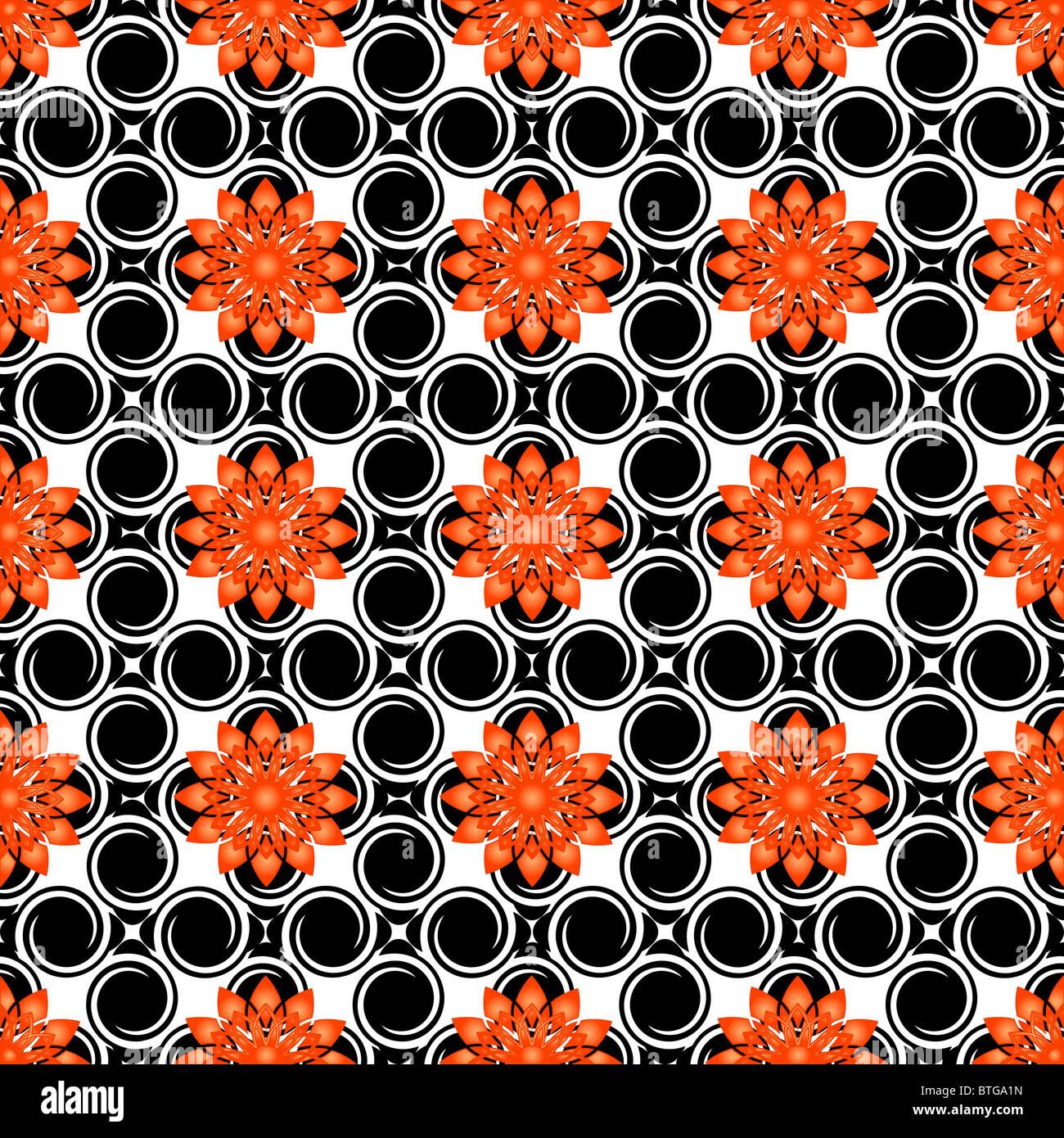 Ilustración de un patrón floral Imagen De Stock