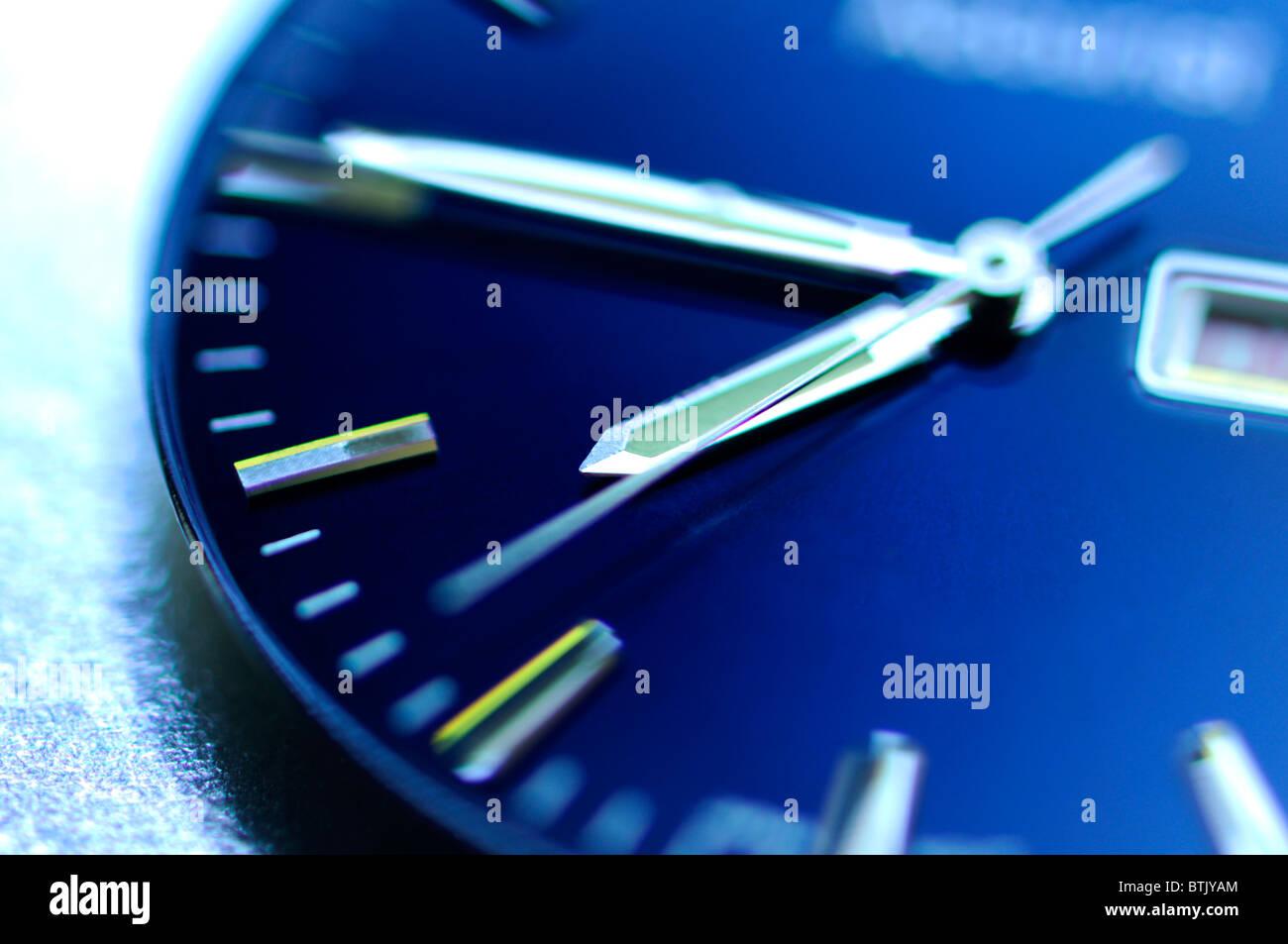 La cara del reloj - el enfoque selectivo Imagen De Stock