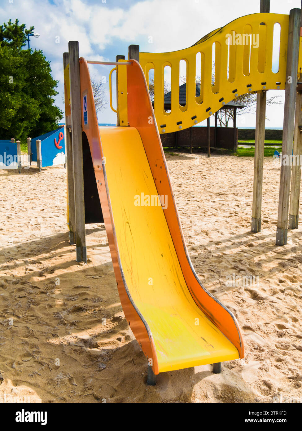 Diapositiva de playground para niños Imagen De Stock