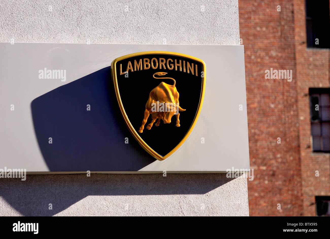 Lamborghini Logo On Car Imagenes De Stock Lamborghini Logo On Car
