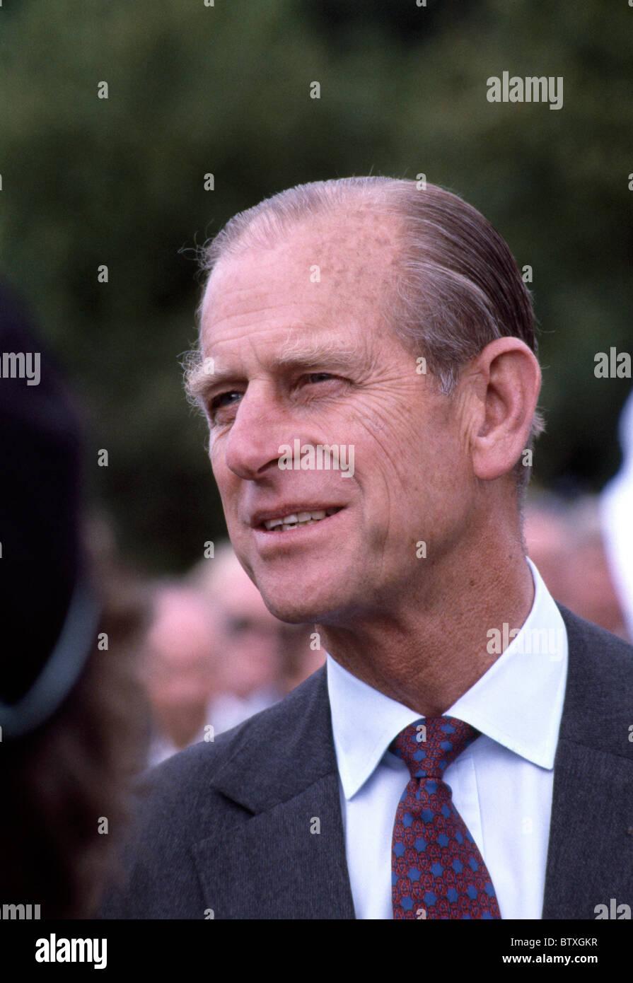 Edimburgo - 2 de julio: El Príncipe Felipe, Duque de Edimburgo, en una visita a Edimburgo el 2 de julio de 1982 en Edimburgo, Escocia. Foto de stock