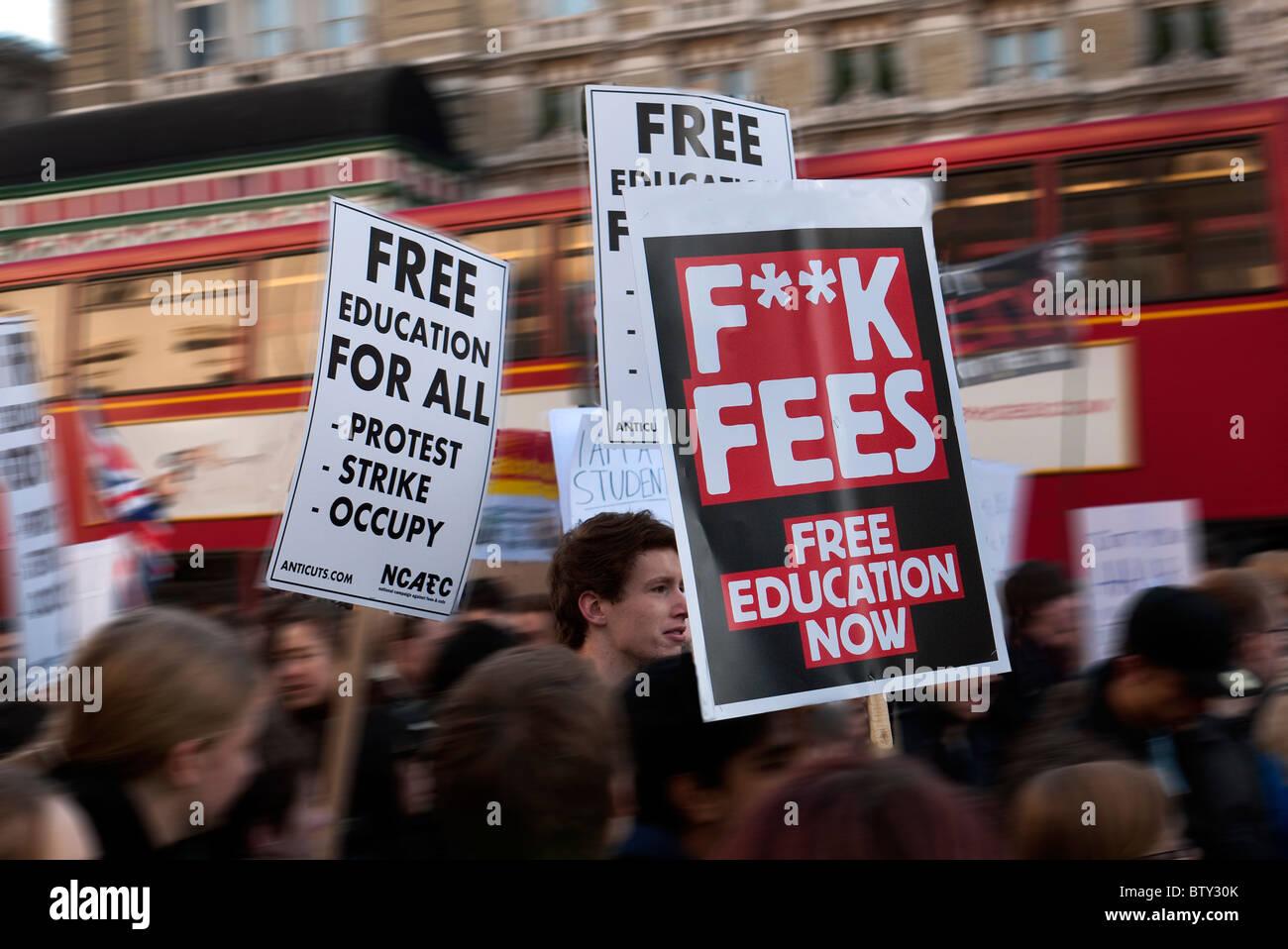 Gastos de educación demo Londres Imagen De Stock