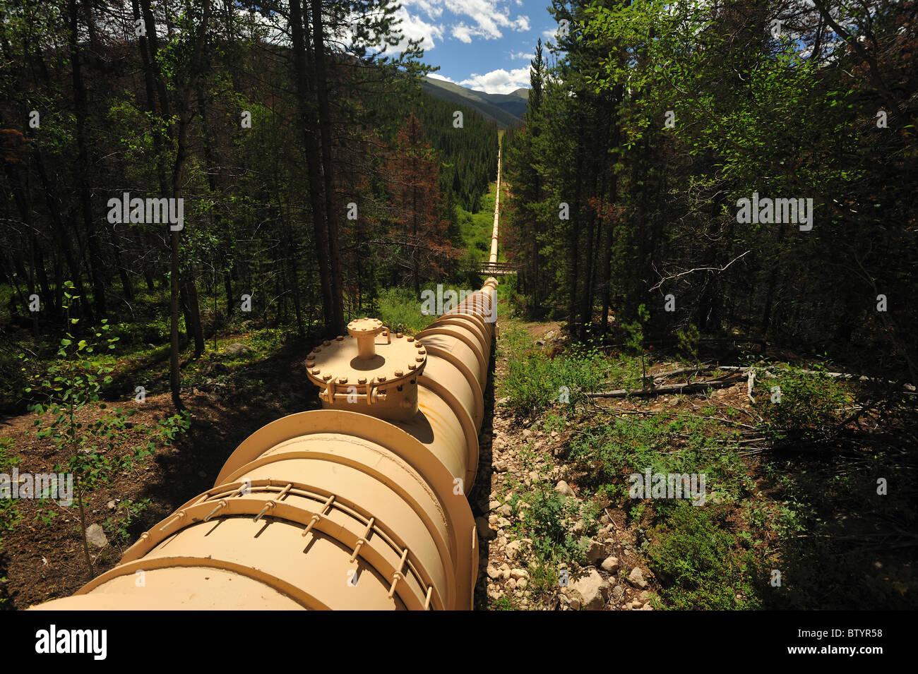 Canalización de desviación de aguas, Fraser, Colorado Imagen De Stock