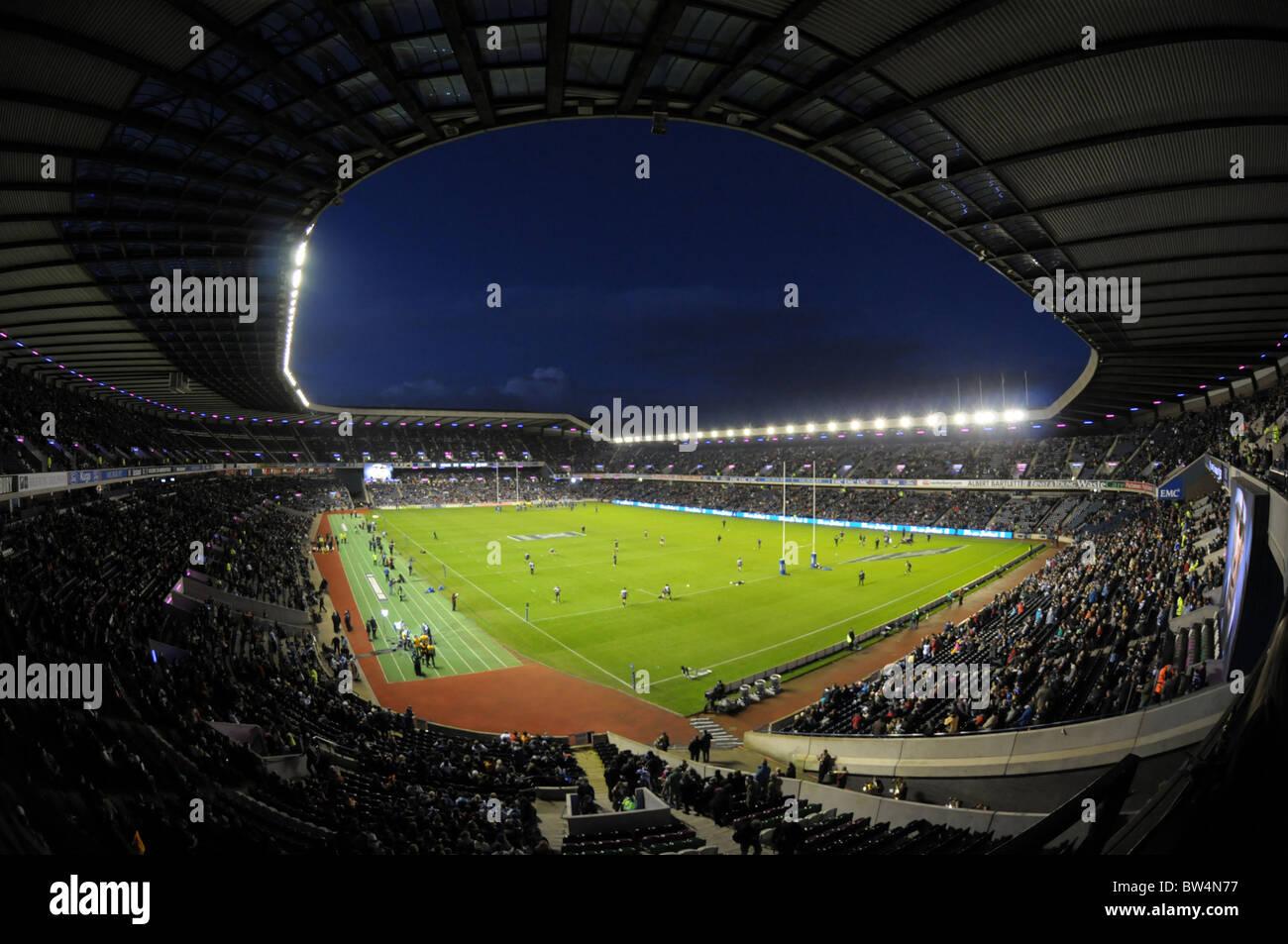 El estadio de rugby Murrayfield en Edimburgo. Escocia v Todos los negros de Nueva Zelanda Imagen De Stock