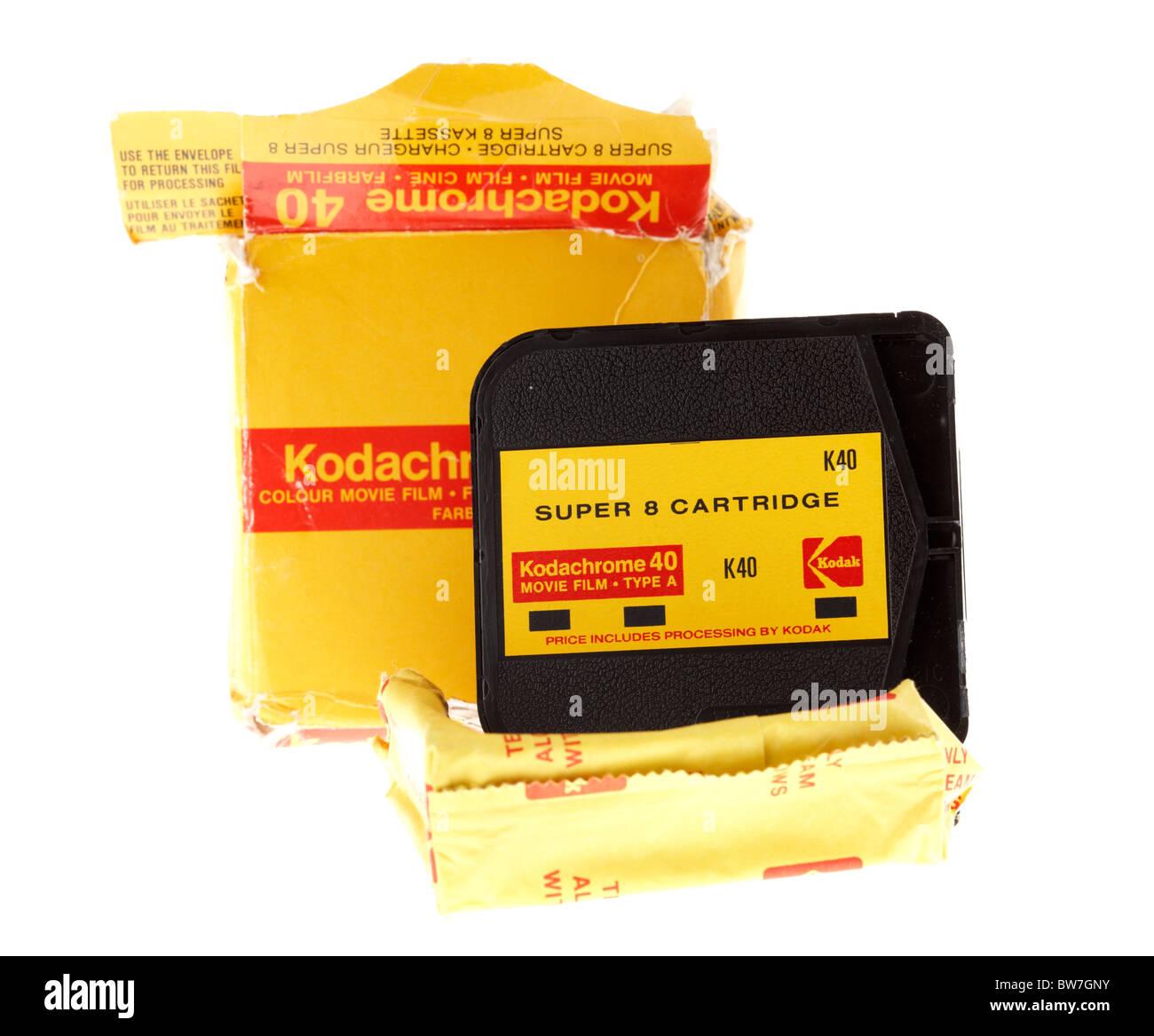 Super8 Kodachrome de Kodak cartucho de película de cine Imagen De Stock