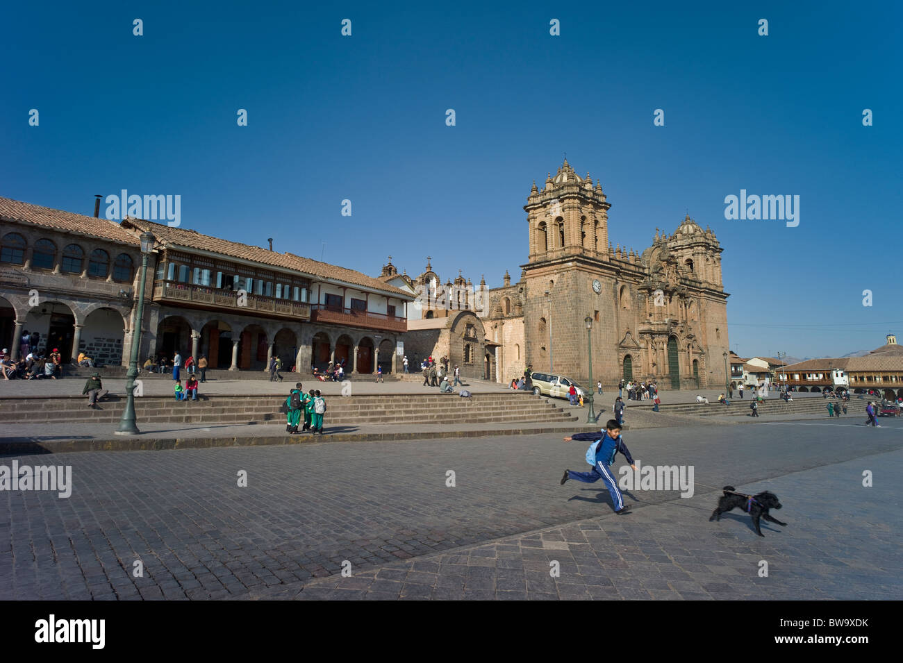 Peru And Cusco And Boy Imágenes De Stock   Peru And Cusco And Boy ... 76aab74bdc4