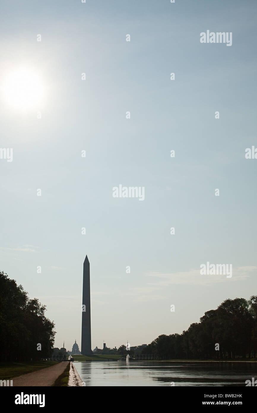 El Monumento a Washington, en Washington DC, EE.UU. Imagen De Stock