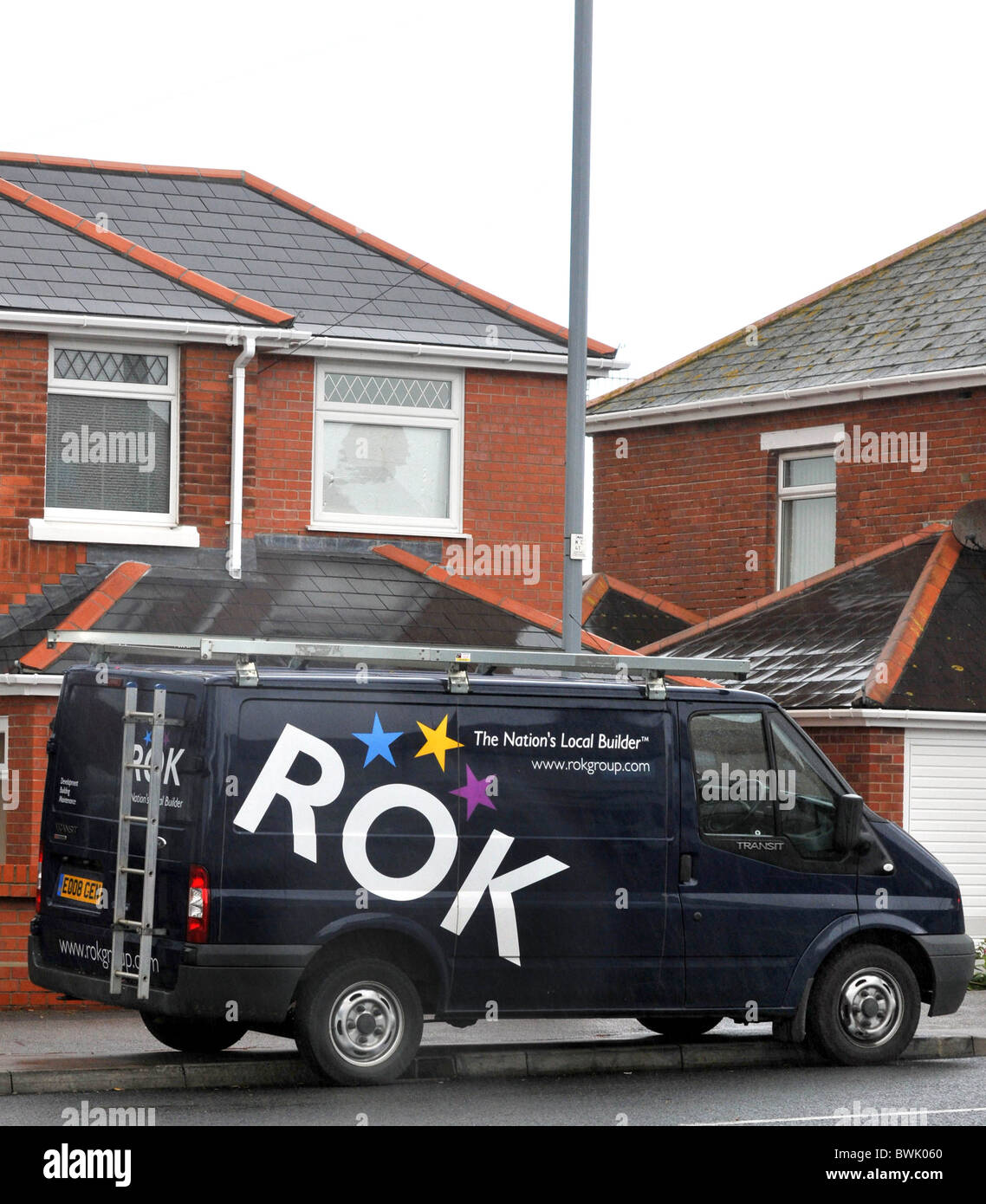 La empresa de construcción, Rokgroup ROK, REINO UNIDO Imagen De Stock