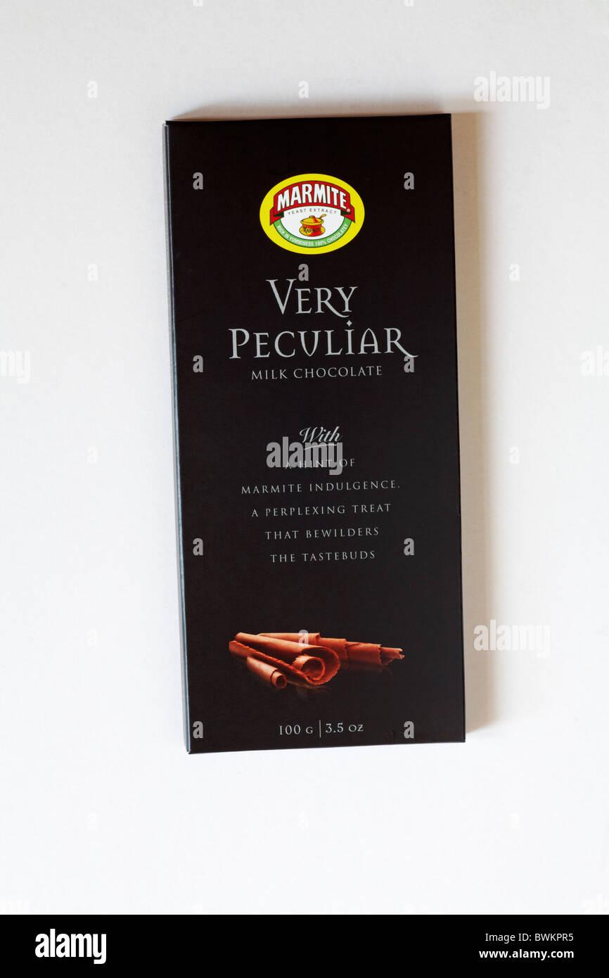 Barra de chocolate con leche muy peculiar Marmite bar Imagen De Stock