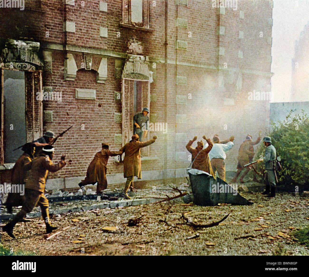 Invasión de Francia de junio de 1940 Antecedentes históricos histórico alemán tropas francesas Imagen De Stock