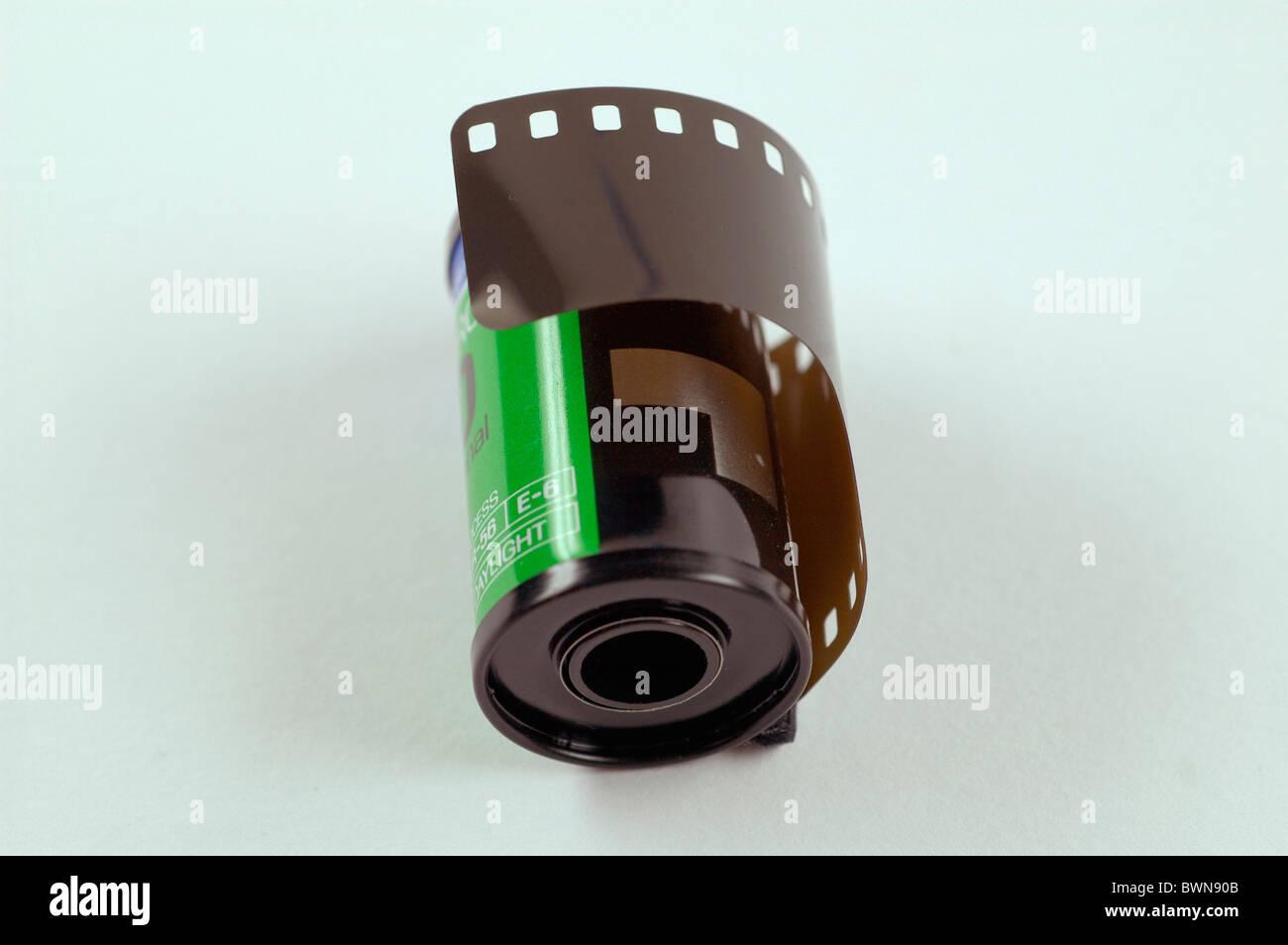 La película de 35 mm de película de imagen pequeña fotografía semejante materia prima copiar Imagen De Stock