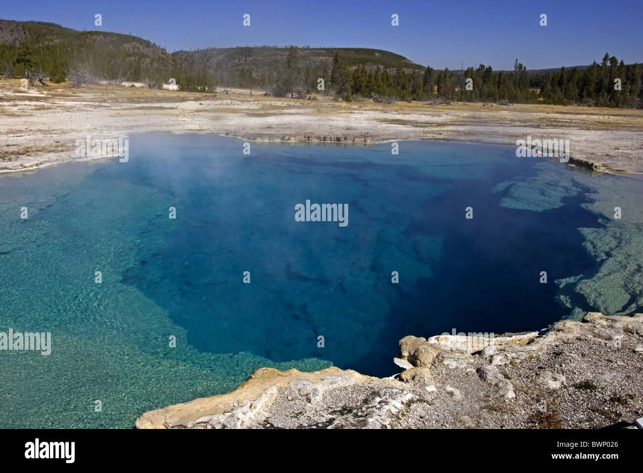 Piscina Sapphire, Biscuit Basin, Yellowstone Foto de stock